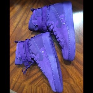 Nike SF Airforce One AF1 boot court purple.
